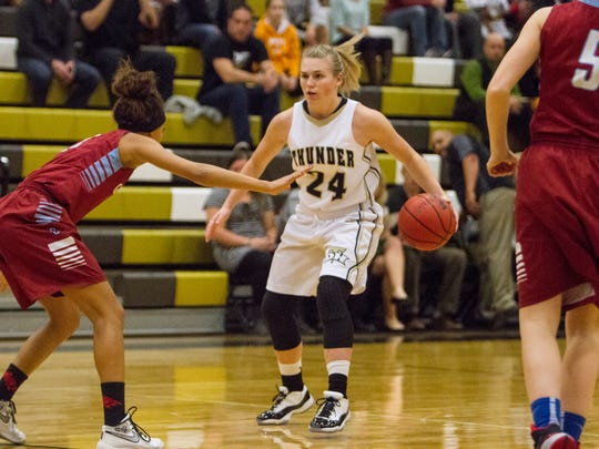 Desert Hills High Girls Basketball takes on Granger High during the Rock Canyon Bank Holiday Classic Thursday, Dec. 3, 2015.