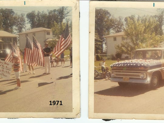 Photos from the first Flanders 4th of July parade in 1971.