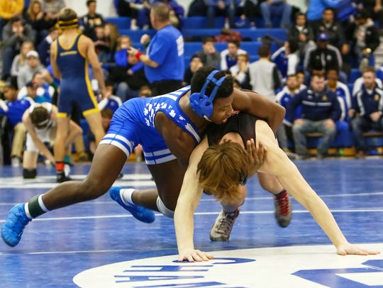 CC's Kevon Davenport (top) is 23-0 this season after