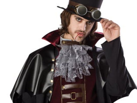 This snazzy Steampunk Victorian Vampire costume will
