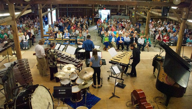 Birch Creek Music Performance Center faculty give a concert in the academy's Percussion & Steel Band Series in its Dutton Concert Barn.