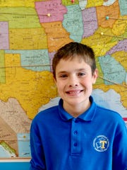 Liam Seeley of Bridgewater, a sixth-grade student at
