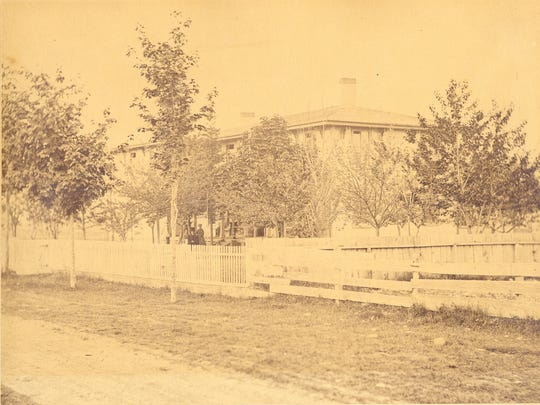 This photo was taken in 1866, the same year the old Holdridge house at the corner of Franklin and Fulton streets on Elmira's south side was rented to become the Southern Tier Orphan's Home. The first children admitted were a 10-year old-boy and his 5-year-old sister whose father had died in the Civil War.