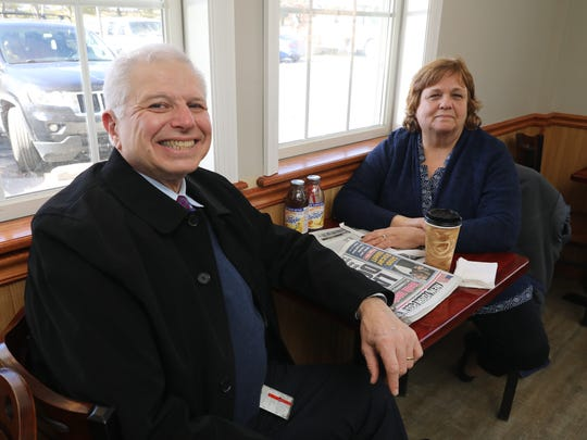 Louis and Linda Liotti from Phillipstown, are frequent customers to the JV Hot Bagels II in Shrub Oak, pictured at the store March 6, 2018.