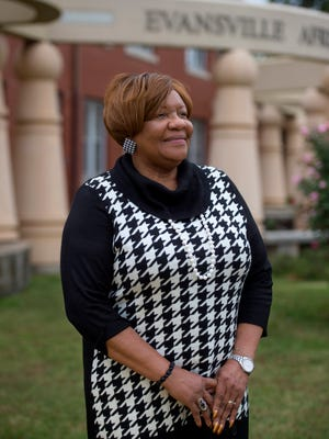 Lu Porter, executive director of the Evansville African American Museum in Evansville, Ind., on Thursday, Nov. 2, 2017. Porter is retiring on Dec. 31, 2017.
