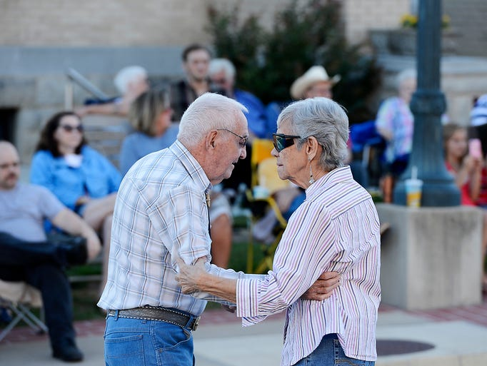 Hank and Wanda Robison cut a rug during Friday Night on the Square in Mountain  Home.