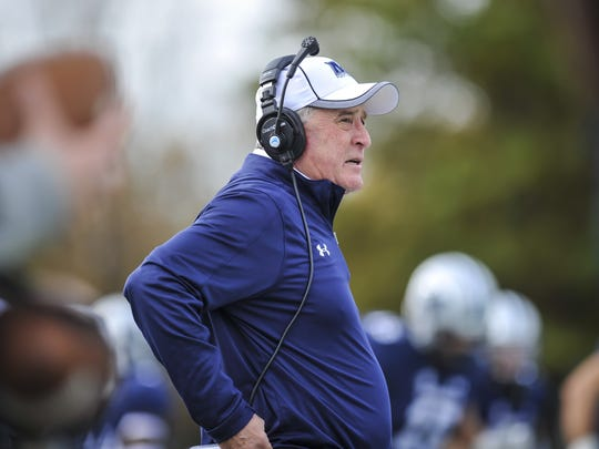 Monmouth University head coach Kevin Callahan during a game against Presbyterian in 2017.