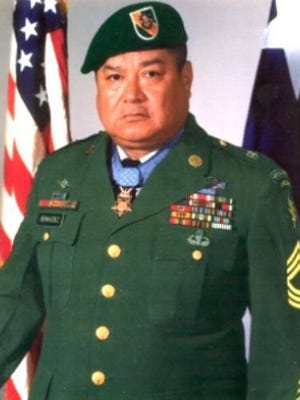 Master Sergeant Roy Benavidez, Congressional Medal of Honor winner for actions in Vietnam, on May 2, 1968.
