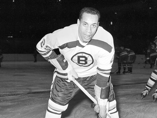 25-year-old left wing Willie O'Ree, the first black