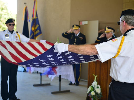Terry Halbardier was honored Tuesday by fellow veterans