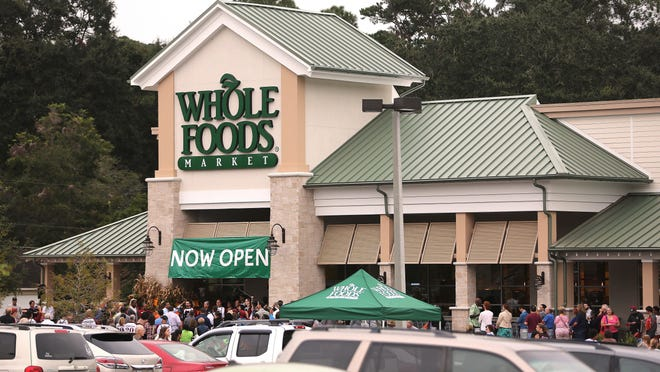 File art of Whole Foods Market's grand opening in Tallahassee in 2013.