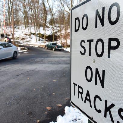 Railroad crossing on Glenwood Road/Brookside Avenue.