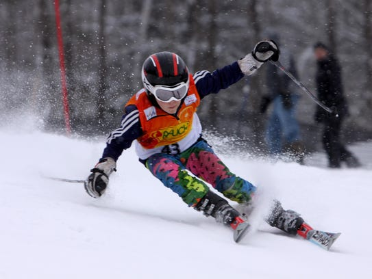 Julian Slesar, a member of Cochran's Ski Club, in the