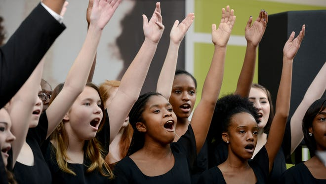 Members of the Parkside High School Choir perform Saturday afternoon during the Healthy Holiday Choral Competition at The Centre of Salisbury.