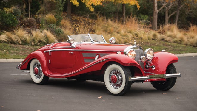The bright-red two-seater with an open top is the crown jewel of this year's RM Sotheby's collector-car auction, which runs Jan. 28-29 at the Arizona Biltmore Resort in Phoenix.