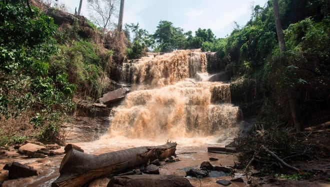 A photo shows the Waterfalls in Kintampo on March 20, 2017, where 19 students lost their lives in an accident a day before.