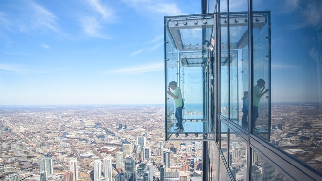 The view from Skydeck at Willis Tower.