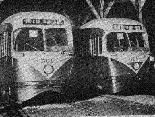 An undated photo shows the #509 streetcar in its heyday