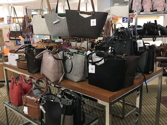 Purses are among the items discounted for the liquidation