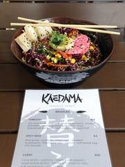 The tossed cold ramen from Kaedama. The restaurant