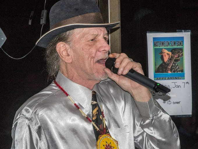 Blues musician Watermelon Slim and his band played