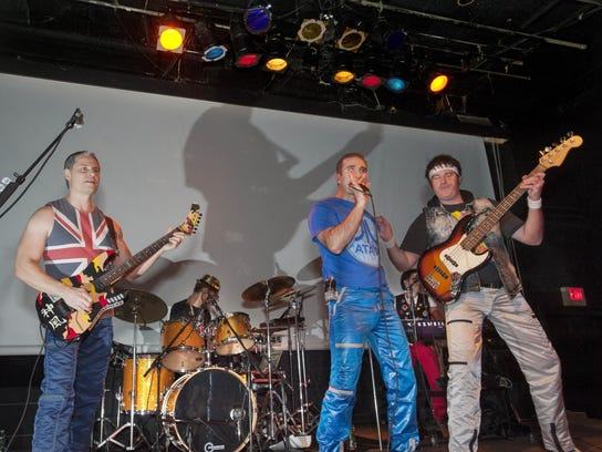 Mick Madness, guitar, Guy Golden, drums, Carey Denha,