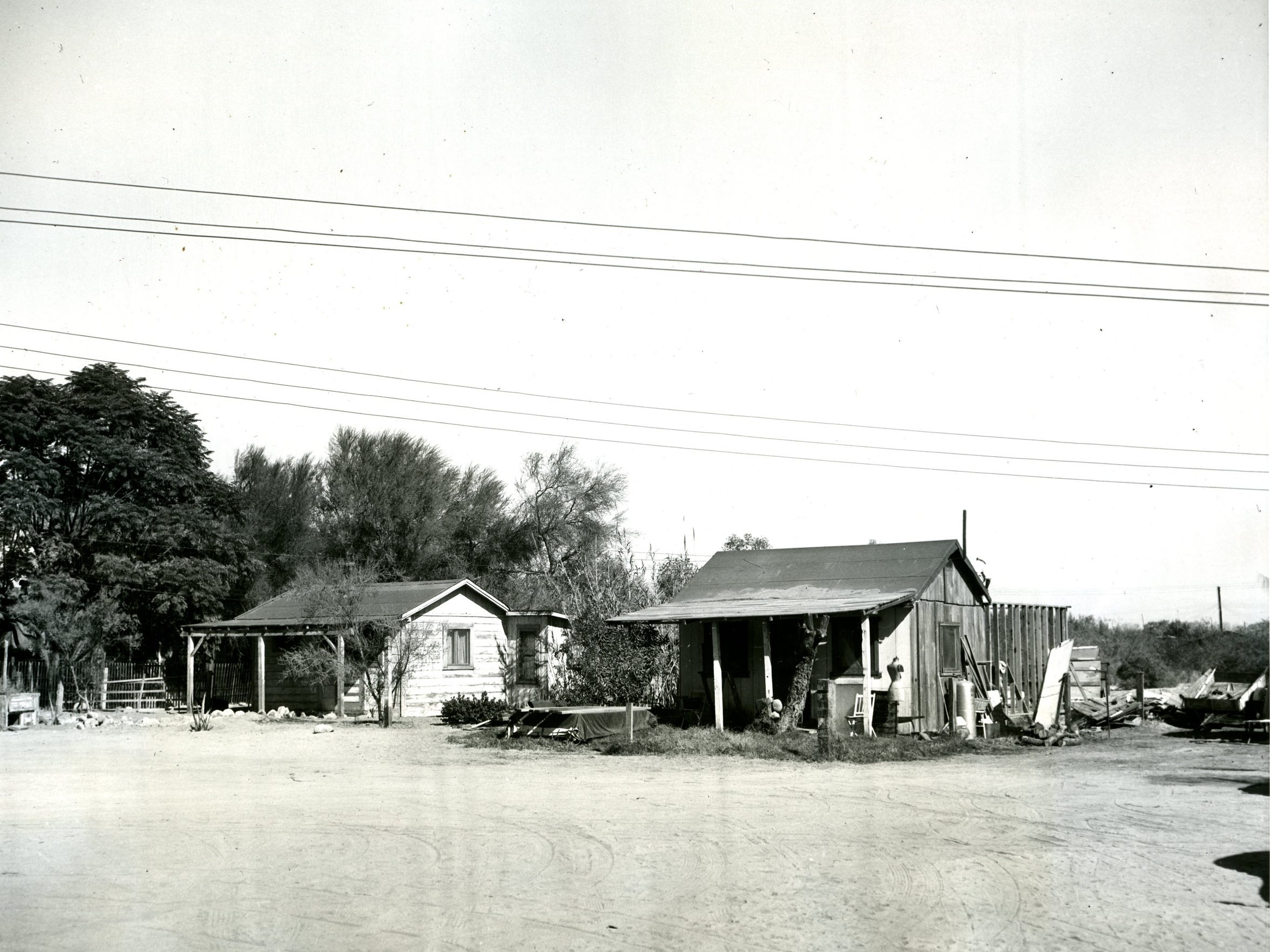A photograph of houses on Section 14, taken on Dec.