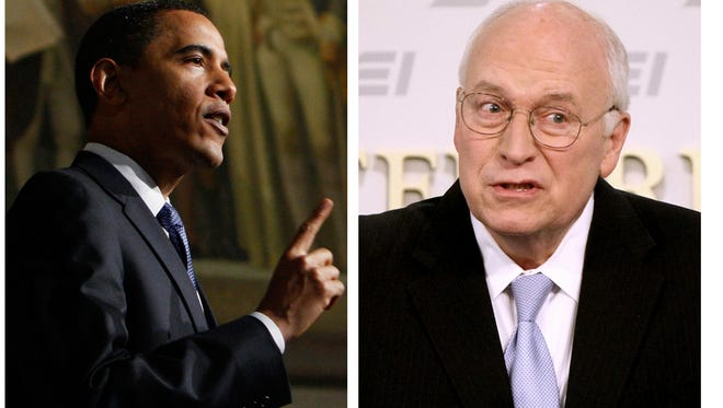 President Obama and Dick Cheney.
