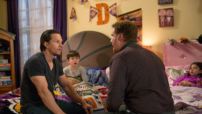 Dusty (Mark Wahlberg) shows up to reclaim his children's hearts, but runs into trouble in the form of their stepfather Brad (Will Ferrell). One-upsmanship hijinks ensue, as they often do in a Will Ferrell movie.