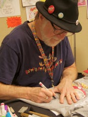 Ren & Stimpy creator Bob Camp met fans and signed autographs all day Saturday at SW-Florida Comic-Con.
