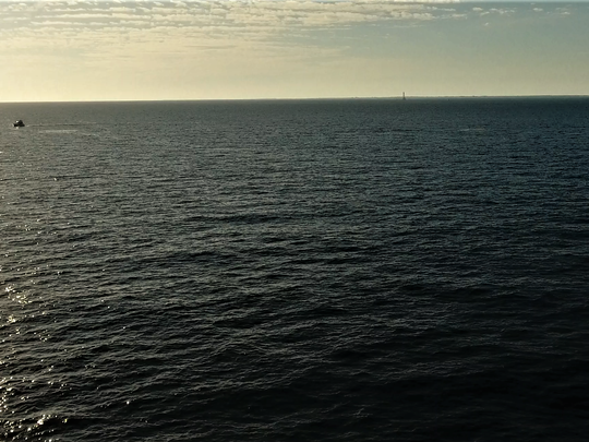 The search area off Key West from the vantage point of the Phantom drone.