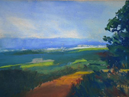 """Catskill Mountain Overlook,"" pastel by Marie Cole."