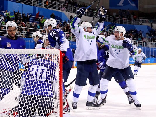 USP OLYMPICS: ICE HOCKEY-MEN TEAM GROUP B - USA-SL S OLY KOR