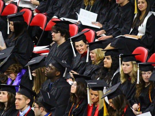 Lt. Gov. Kim Reynolds is seen at the Iowa State University