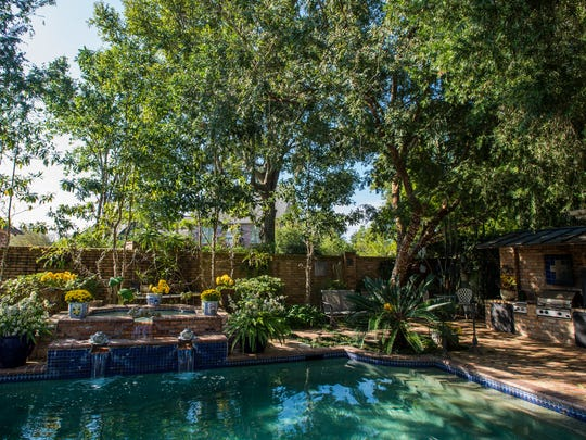 The backyard at the home of Michael Huber and Carolyn French is pictured in Lafayette, La., Wednesday, Nov. 4, 2015.