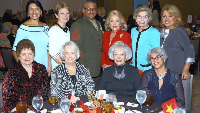 (L-R) Sponsor Peggy Cravens hosted friends Dr. Mona Khanna, Twila Wernicke, Martin Flores, Peggy Cravens, Betty Francis, Ogniana Masser, (seated L-R) Penny Mason, Suz Hunt, Jean Carrus, Merle Carrus