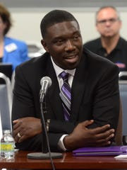 Shawn Joseph, Prince George's County (Md.) Schools deputy superintendent, during his interview with the Metro Nashville Public Schools board, Thursday, May 5, 2016
