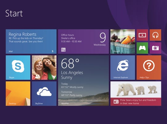 windows Start screen