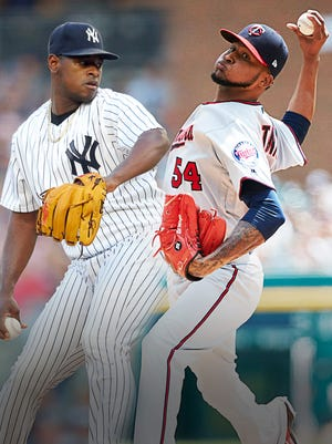 Luis Severino of the Yankees will face Ervin Santana of the Twins in the AL wild card game.