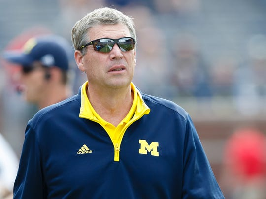 Michigan Wolverines athletic director Dave Brandon before the game against the Utah Utes at Michigan Stadium.
