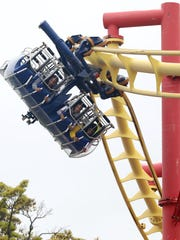Riders enjoy the Super Flight during the opening day