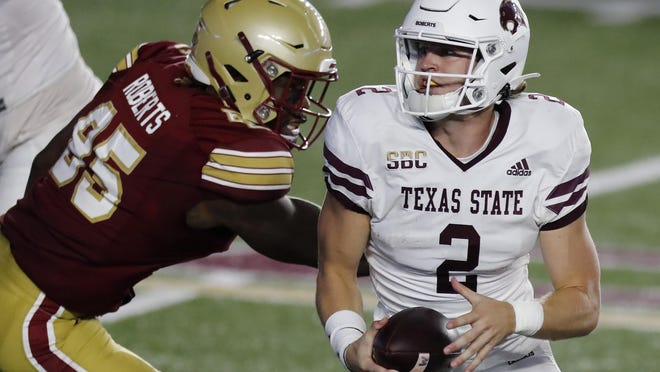 After missing Texas State's previous two games, quarterback Brady McBride returned to start last week against Boston College. He and Tyler Vitt each have started two games this season.
