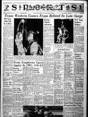 Game 18, played on February 12, 1966, of Texas Western College's championship season.