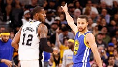 Steph Curry and the Warriors beat LaMarcus Aldridge
