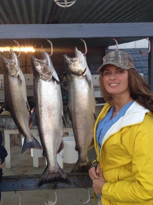 Lydia Loher believes cage culture threatens Great Lakes salmon.