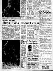 Image of Indianapolis Star's coverge of Purdue in NCAA tournament on March 23, 1969.