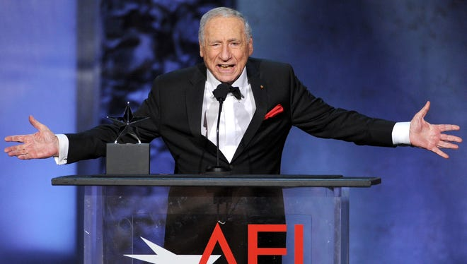 Mel Brooks garnered an AFI Life Achievement Award in June, and a Christmas marathon of his movies is set for Wednesday.