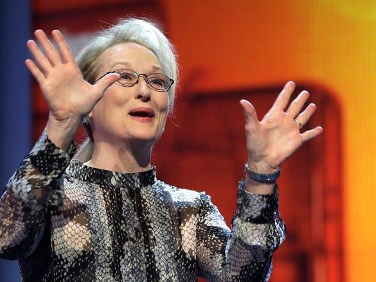 Actress Meryl Streep speaks during a ceremony prior