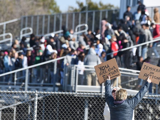 Students at Cape Henlopen High School near Lewes held