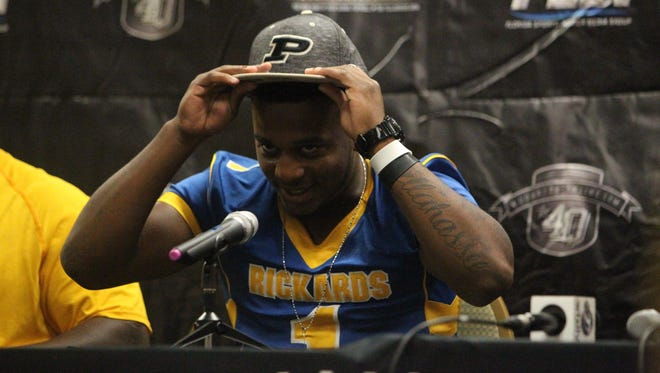 Rickards running back Destin Coates commits to Purdue University during Tuesday's 4QuartersOnline seventh annual football media day.